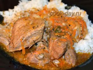 Вкусное, ароматное и аппетитное тушеное мясо с рисом - простой рецепт приготовления