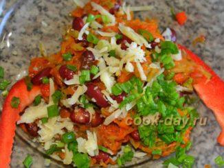 3 простых и вкусных салата на скорую руку. Салат с фасолью