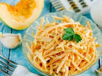 Готовим вкусный и полезный салат из тыквы